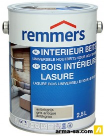 LASURE BOIS INT.GRIS ANTIQUE MAT 2,5L  LasuresREMMERS