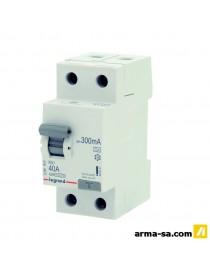 DIFFERENTIEL RX3 2P 40A 300MA  Fusibles & disjoncteursLEGRAND