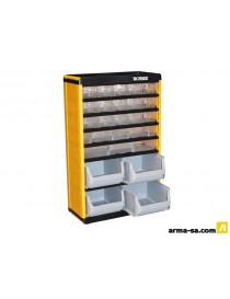 CASIER RANGEMENT 22 TIROIRS 300X163X478MM  Organisers en pvcIRONSIDE