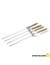 BARBECOOK 4 BROCHETTES BAGUES COUILSSANTE  Accessoires barbecueBARBECOOK