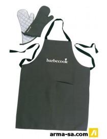 BARBECOOK SET TABLIER + PAIR DE GANTS  Accessoires barbecueBARBECOOK