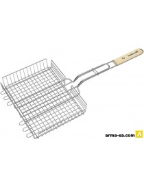 BARBECOOK GRILLE BARBECUE DOUBLE REGLABLE, ACIER CHROME-BOUL  Accessoires barbecueBARBECOOK