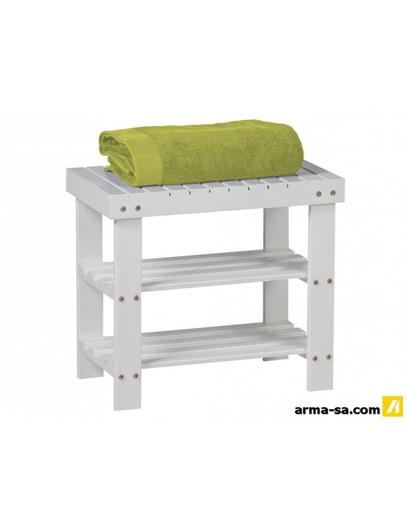 BANQUETTE MULTIFONCTIONS BLANC 50X45X28  Bougies & parfumsGALICO