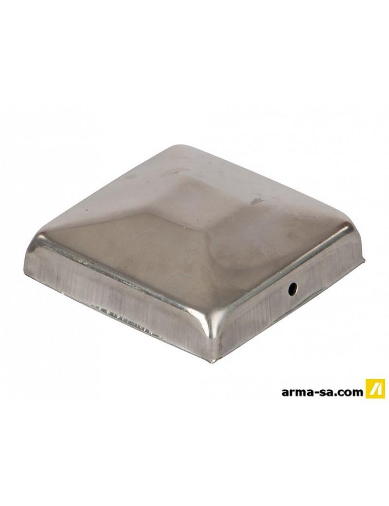 CAPUCHON POUR POTEAU PLAT INOX 91X91  Accessoires clôturesGALICO