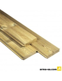 PLANCHE PAN.MASSIF 28X140X1800MM  Coupe-vueCARTRI