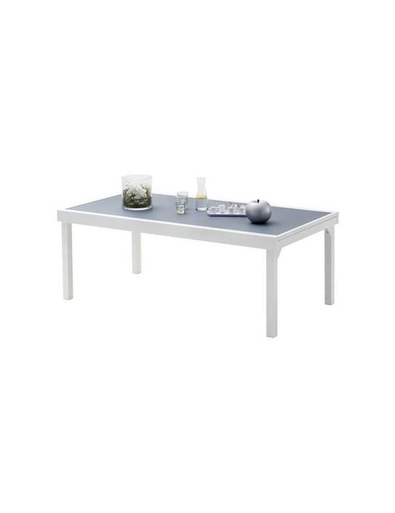 TABLE MODULO 200-320 BLANC-GRIS PERLE  TablesWILSA