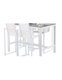 BAR SET STONE BLANC 4 FAUTEUILS+1 TABLE  Mobilier diversWILSA