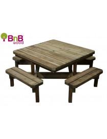 Table de pique-nique avec bancs  TablesBNB WOOD