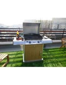 PLANCHA INNOVA CHARIOT+PLANCHA+COUVERCLE  Barbecue au gazFORGE ADOUR