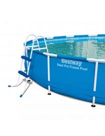 Echelle de piscine 2 marches 84cm BESTWAY  PiscinesBESTWAY