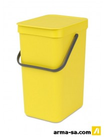 POUBELLE SORT AND GO 12L JAUNE  PoubellesBRABANTIA
