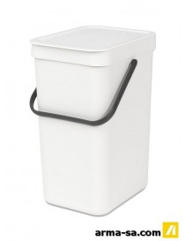 POUBELLE SORT AND GO 12L BLANC  PoubellesBRABANTIA