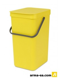 POUBELLE SORT AND GO 16L JAUNE  PoubellesBRABANTIA