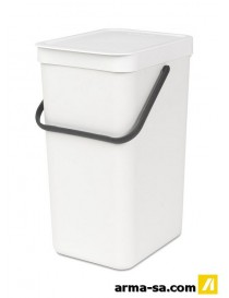 POUBELLE SORT AND GO 16L BLANC  PoubellesBRABANTIA