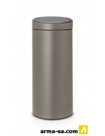 TOUCH BIN 30L NEW PLATINUM  PoubellesBRABANTIA