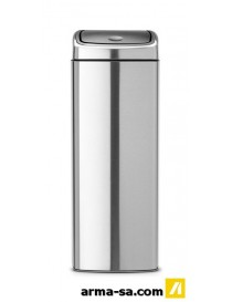 TOUCH BIN 25L RECTANGULAIRE MATT STEEL FPP  PoubellesBRABANTIA