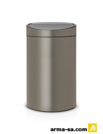 TOUCH BIN 40L NEW PLATINUM  PoubellesBRABANTIA
