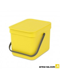 POUBELLE SORT AND GO 6L JAUNE  PoubellesBRABANTIA