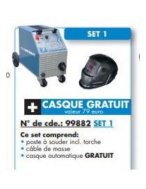POSTE SEMI-AUTO ECOMIG 160  Soudures électriques