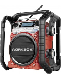RADIO DE CHANTIER WORKBOX ROUGE RECHARGEABLE  Téléphonie, audio & ordinateurMENO