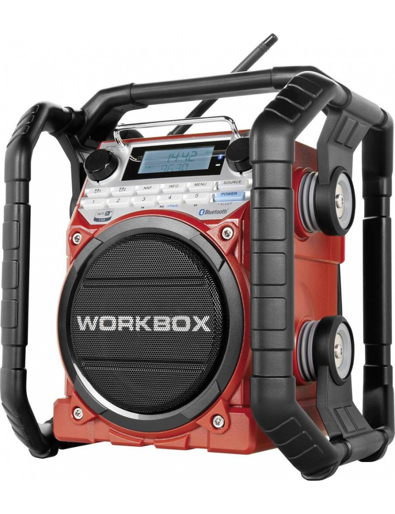 RADIO DE CHANTIER WORKBOX ROUGE RECHARGEABLE  Téléphonie, audio & ordinateurMENO