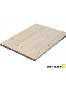 TABLETTE SAPIN 28MM A-B 250X40CM LAMEL.COLLE  Panneaux pour meublesKLENK