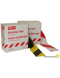 RUBAN DE SIGNALISATION SUPER 500 M X 80 MM - JAUNE-NOIR  Rubans & chaines de signalisatCOLOR LINE