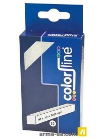 CRAIE STéATITE DE BRIANçON 10 X 10 X 100 MM - PAR 12 PCS  Crayons & marqueursCOLOR LINE