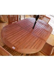 TABLE OVALE TECK EXTEN.144-194X100CM MARGARET  TablesAMECA