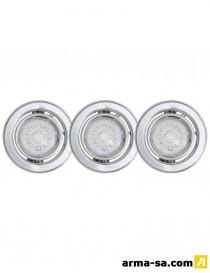 SET 3 SPOTS LED IGOA ORIENT.GU10 5W CHROME  Ampoules ledEGLO