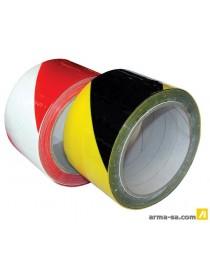 TAPE DE SIGNALISATION PVC ROUGE ET BLANC - 50 MM X 33 M  Bandes adhésivesCOLOR LINE