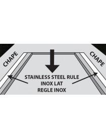 RèGLE DE COLLEUR - 6 CM X 3 M - INOX  Outils de maçonsKAPRO