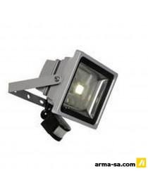 LED-FLOOD +IR 30W ARGENTE IP54  Ampoules ledLUCIDE