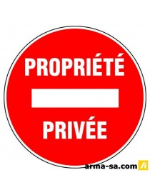PICTO PROPRIETE PRIVE D:300MM  PictogrammesNOVAP