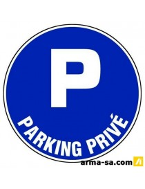 PICTO PARKING PRIVE D:300MM  PictogrammesNOVAP