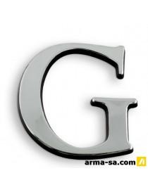 CARACTERE ADH 40MM ARGENT G  PictogrammesNOVAP