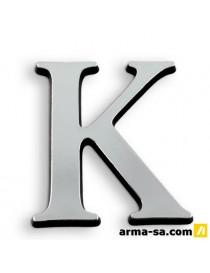 CARACTERE ADH 40MM ARGENT K  PictogrammesNOVAP