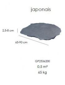 Pas japonais 2,5-8cm*65-90cm - (65kg) EXTERNE-PCS  Pierres-dalles de terrasseGLENDYNE