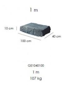 Marche 125*40cm*10cm - Extérieur PCS.  Pierres-dalles de terrasseGLENDYNE