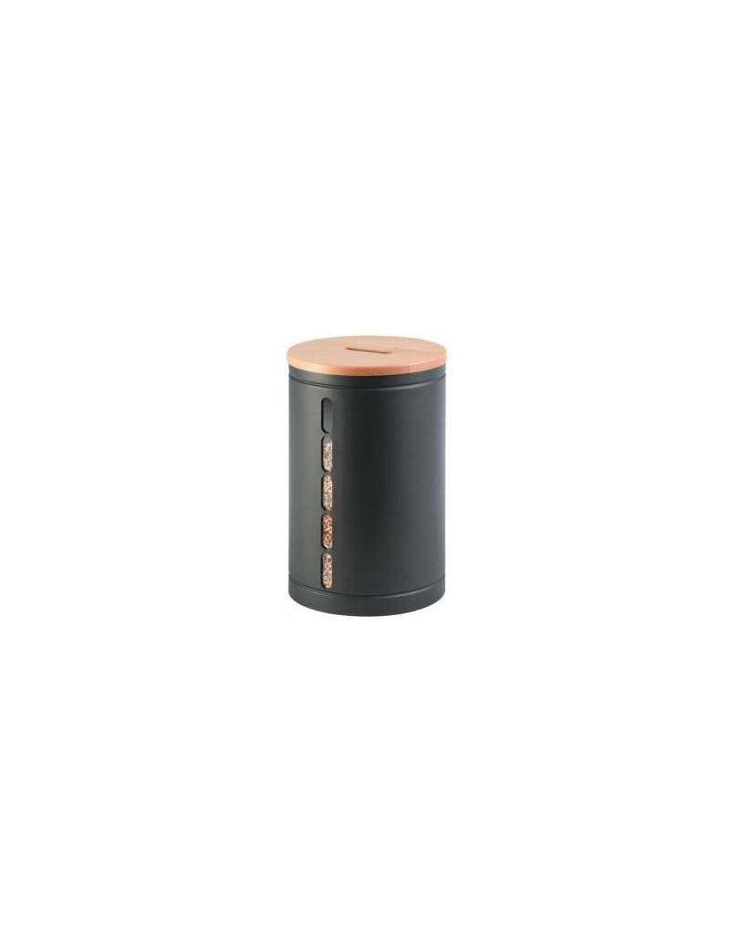 Réservoir à granulés OCTARIS acier gris sablé 20KG  Accessoires chauffage