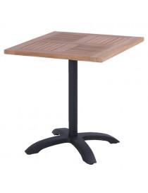 Table bistrot en teck 70x70cm + pied HARTMAN