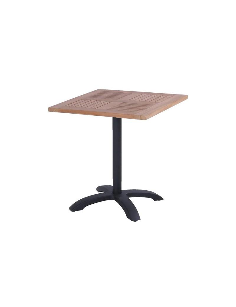 Table bistrot en teck 70x70cm + pied HARTMAN  TablesHARTMAN
