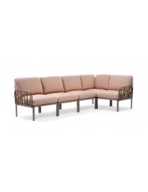 Canapé Lounge Set Komodo 5 places anthracite-rosa quarzo  Mobilier de jardinNARDI