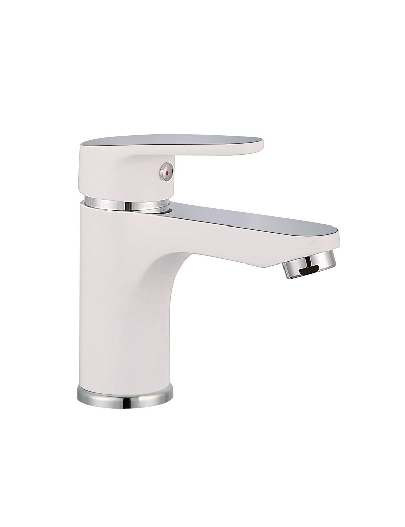 ALASKA mitigeur lavabo blanc-chromé  Robinets lavaboSCHUTTE