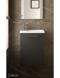 Meuble MICRO 400 gris mat + Vasque  Armoires de toilette