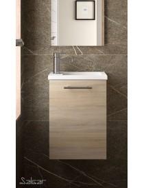 Meuble MICRO 400 chêne Calédonie + vasque  Armoires de toilette