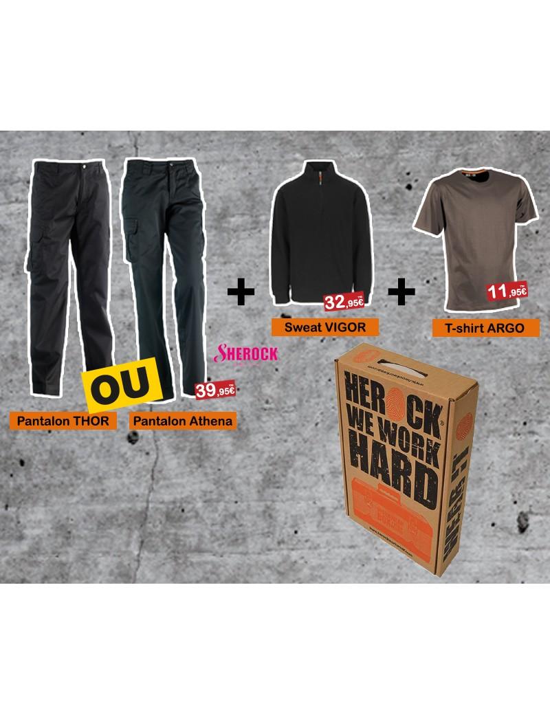 Box THOR GRIS + Sweat VIGOR + T-shirt ARGO HEROCK  Vêtements de travailHEROCK