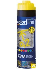 X9M PAINT MARKER - 500 ML - FLUO JAUNE  Peintures de marquageCOLOR LINE