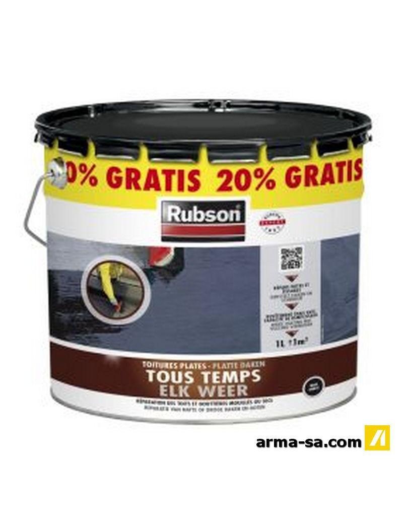 RUBSON TOUS TEMPS NOIR 10L+20% GRATUIT  CaoutchoucRUBSON