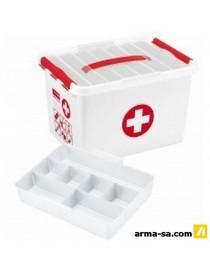 BOITE DE PREMIERS SECOURS - 22L - AVEC INSERT  Boîtes plastiquesSUNWARE